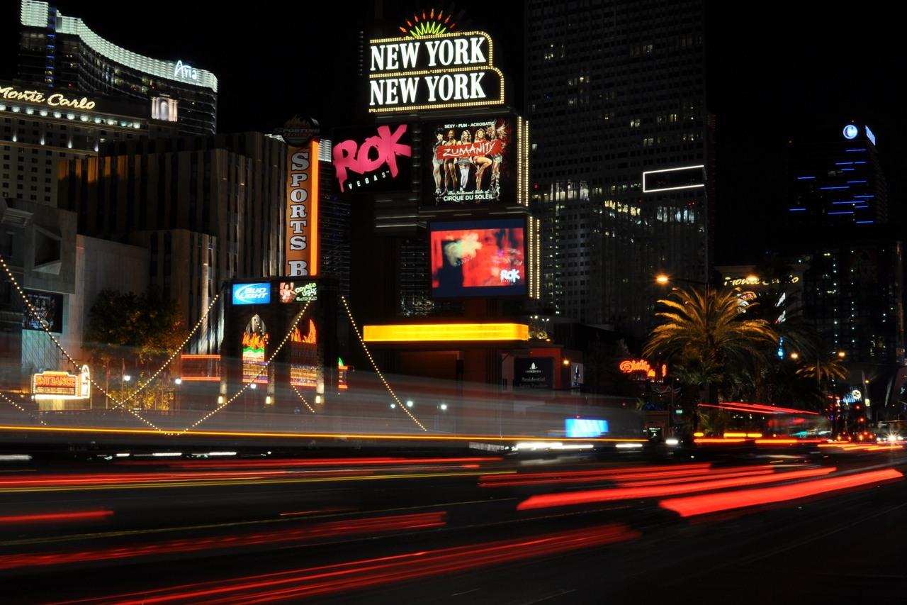 Las Vegas Strip Unterhaltung im November