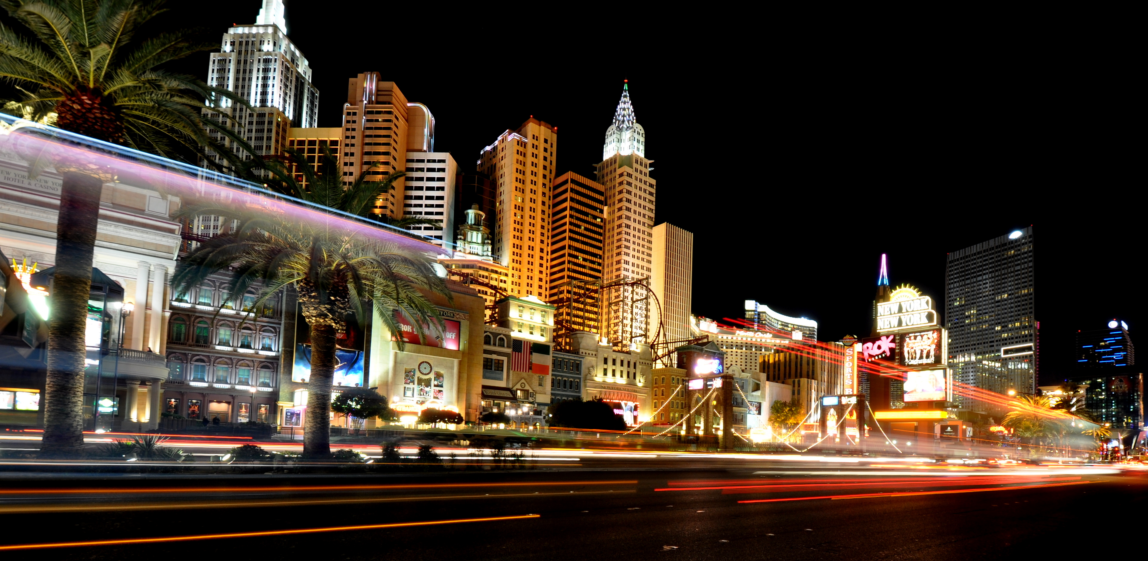 Las Vegas Strip At Night Bilderklau Im Internet Finden